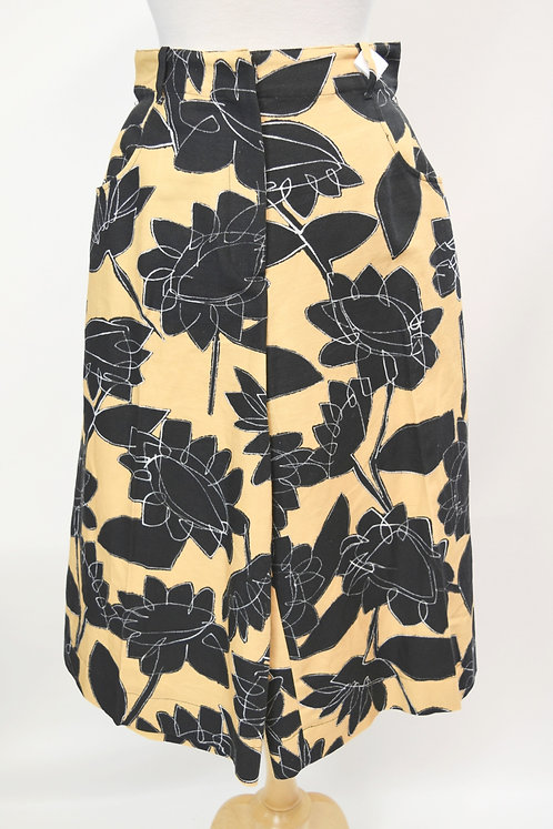 Jacquemus Yellow Print Culottes Size 6