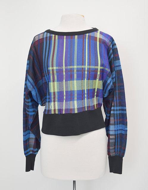 Dries Van Noten Blue Plaid Sweater Size Medium (8)