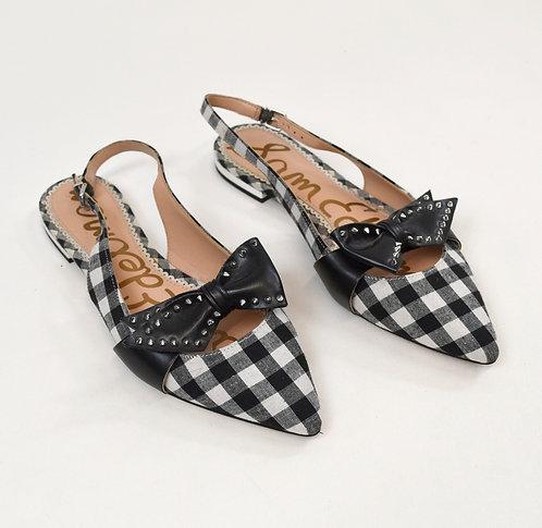 Sam Edelman Black & White Check Flats Size 7.5