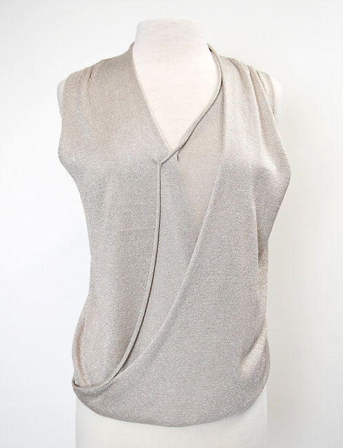 Brochu Walker For Intermix Silver Knit Top Size Small