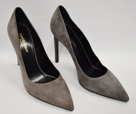 Saint Laurent Gray Suede Heels Size 11