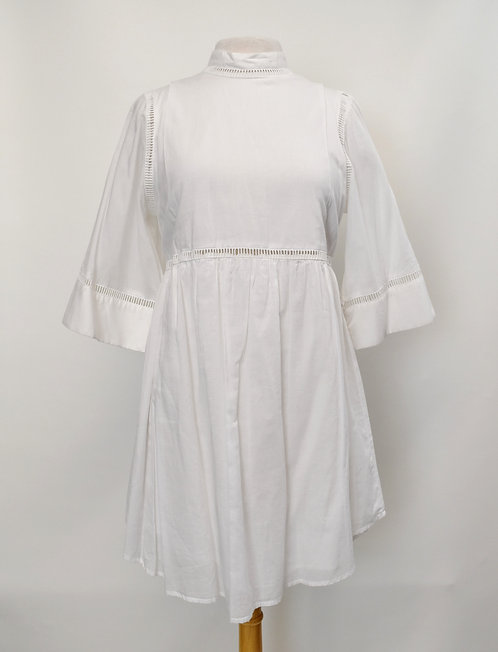 Apiece Apart White Cotton Dress Size Small (4)