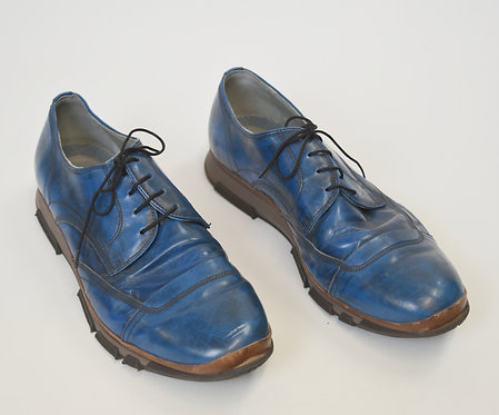 Dolce & Gabbana Blue Leather Shoes Size 10