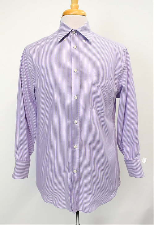 Brunello Cucinelli Purple Stripe Shirt Size Medium