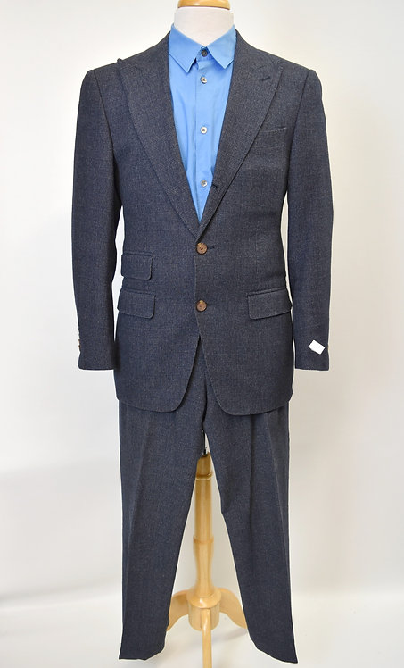 SuitSupply Navy Wool-Blend Suit Size 38R