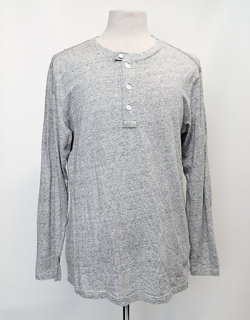 G Star Raw Light Gray Henley Size Medium