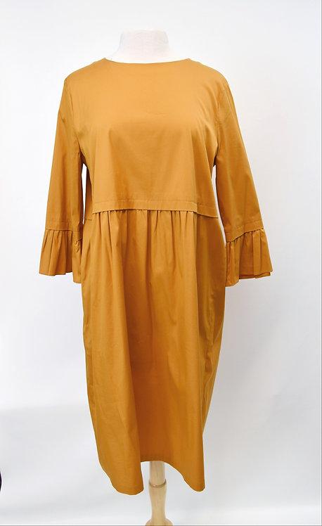 Max Mara Mustard Casual Dress Size Large (14)