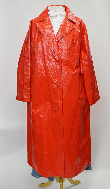 Stand Studio Red Long Raincoat Size Large