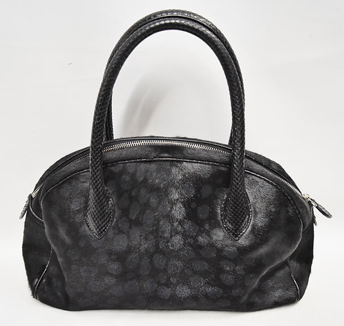 Alaia Black Mohair Shoulder Bag