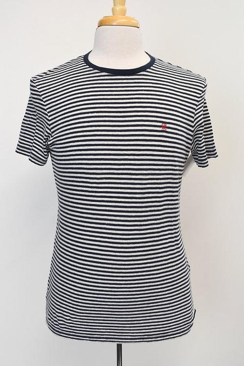 Carolina Herrera Navy & White Stripe T-Shirt Size Medium
