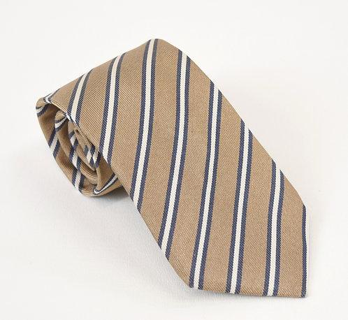 SuitSupply Tan Stripe Silk Tie