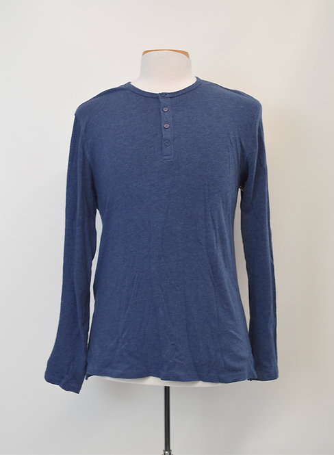 Vince Blue Knit Henley Size Small
