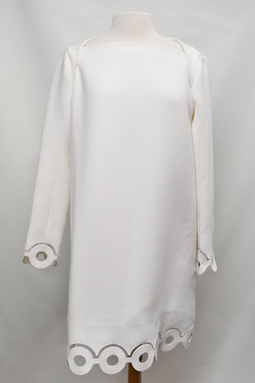 Carven White Mod Dress Size 8