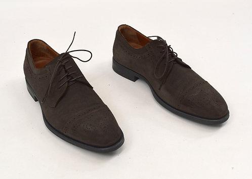 Aquatalia Dark Brown Suede Shoes Size 9