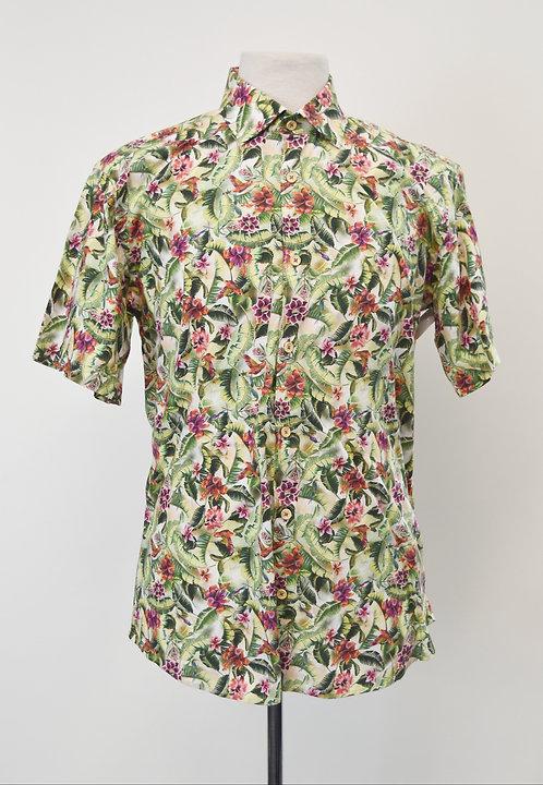 Jared Lang Hawaiian Print Shirt Size Large