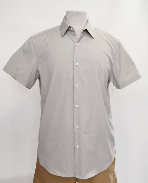 Theory Gray Short Sleeve Shirt Size Large
