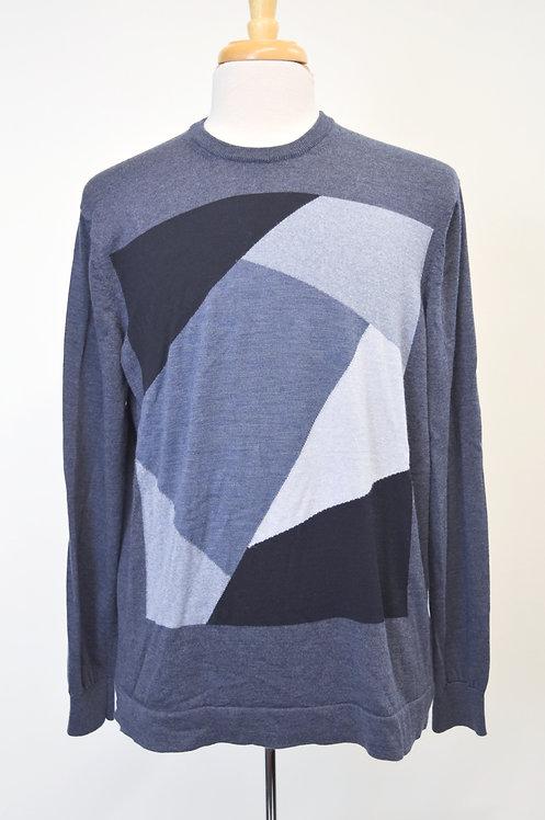 Emporio Armani Blue Wool Sweater Size XXL