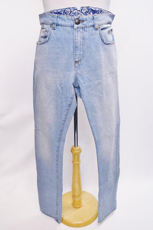 Isaia Light Wash Slim Jeans Size 34