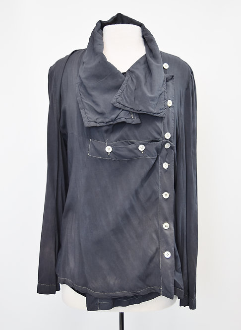Ann Demeulemester Gray Button Jacket Size Medium