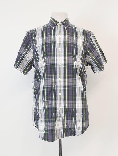 Ralph Lauren Navy & Green Plaid Shirt Size Medium