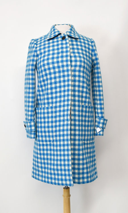 J. Crew Blue Check Coat Size 00