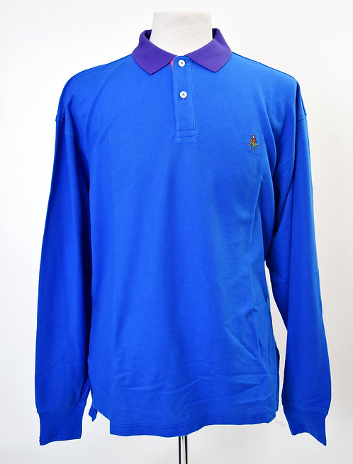 Paul Stuart Blue Long Sleeved Polo Size Large