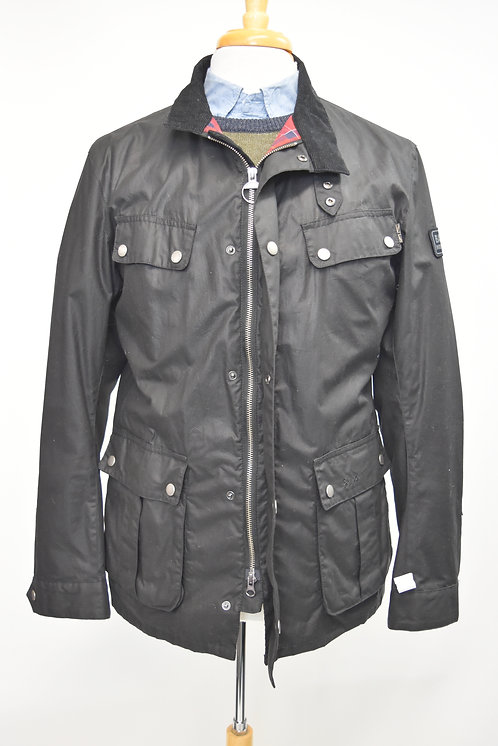 Barbour Black Waxed Cotton Jacket Size Large