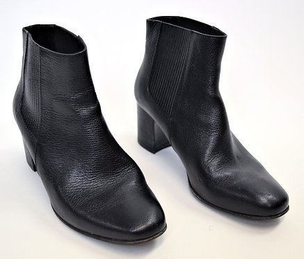 Pedro Garcia Black Leather Booties Size 8.5
