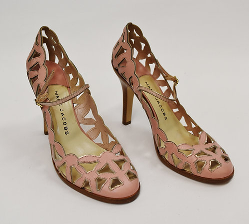 Marc Jacobs Pink Leather Heels Size 8.5