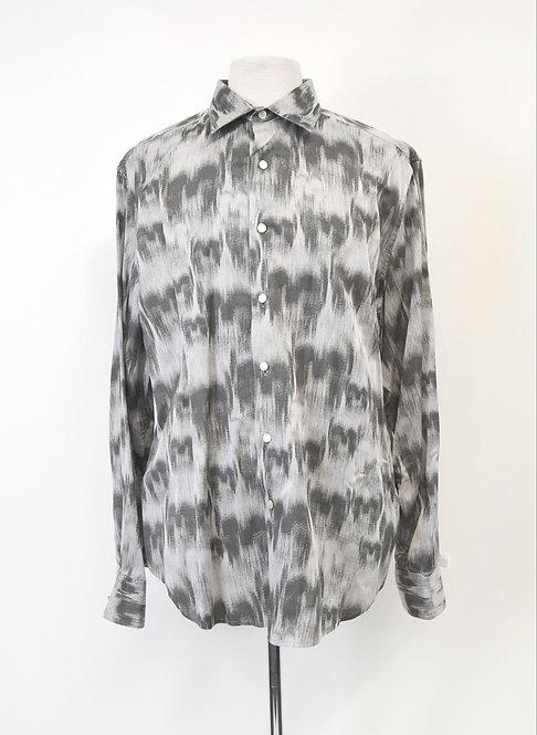 Robert Graham Gray Print Shirt Size XXL