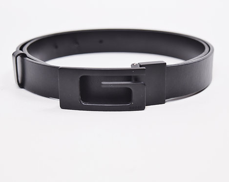 Gucci Black Leather Belt Size 34