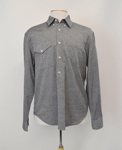 Billy Reid Gray Dress Shirt Size Large