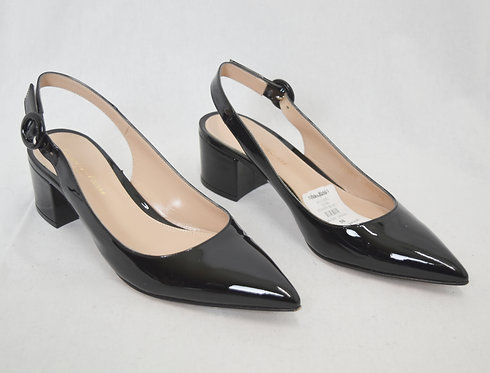 GianVito Rossi Black Patent Leather Kitten Heels Size 5