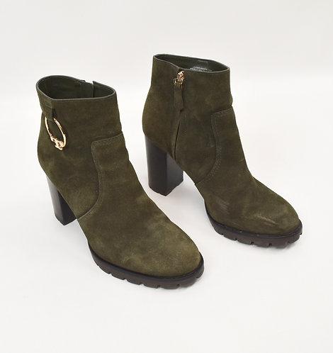 Tory Burch Dark Green Suede Booties Size 9