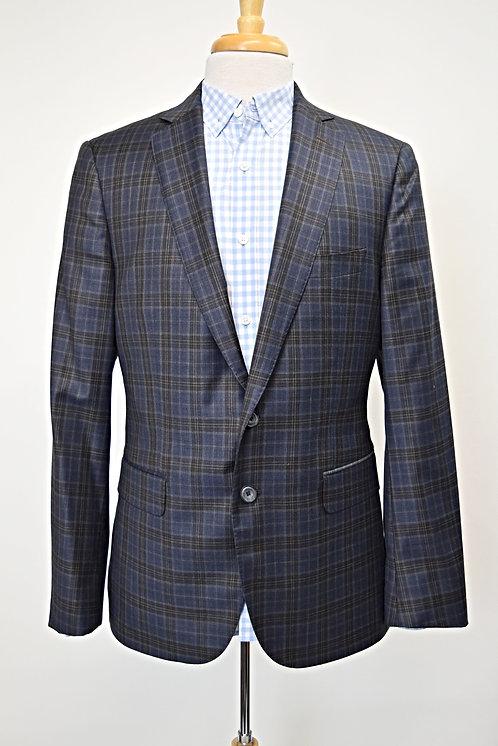 J. Hilburn Navy Plaid Blazer Size 40R