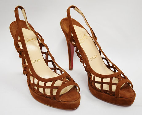 Christian Louboutin Brown Suede Heels Size 7