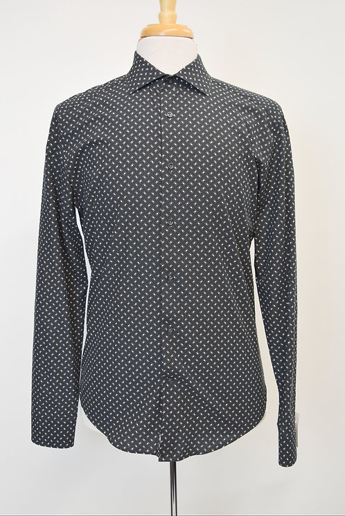 Reiss Black Print Shirt Size Large