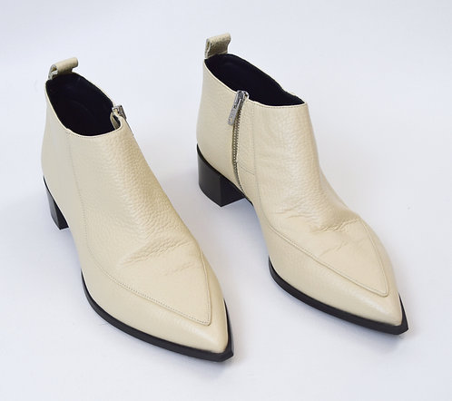 """Everlane White Leather """"The Boss"""" Booties Size 10"""