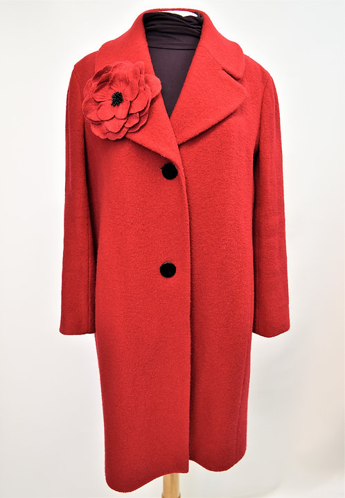 Kate Spade Red Wool Coat Size 6