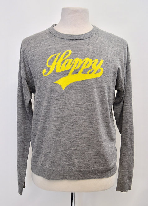 """Zadig & Voltaire Gray """"Happy"""" Sweater Size Large"""