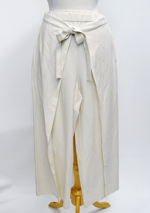 Eileen Fisher Off-White Wrap Pants Size Small