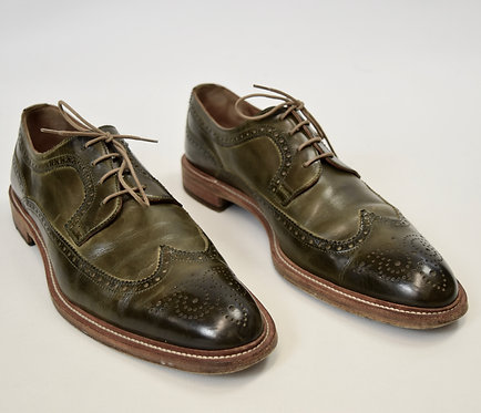 Frattelli Rossetti Green Leather Oxfords Size 10