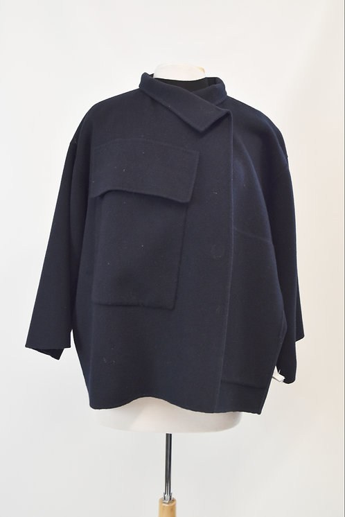 Sofie D'Hoore Navy Wool Jacket Size Small (6)