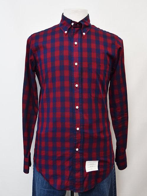 Thom Browne Red & Blue Check Shirt Size Medium