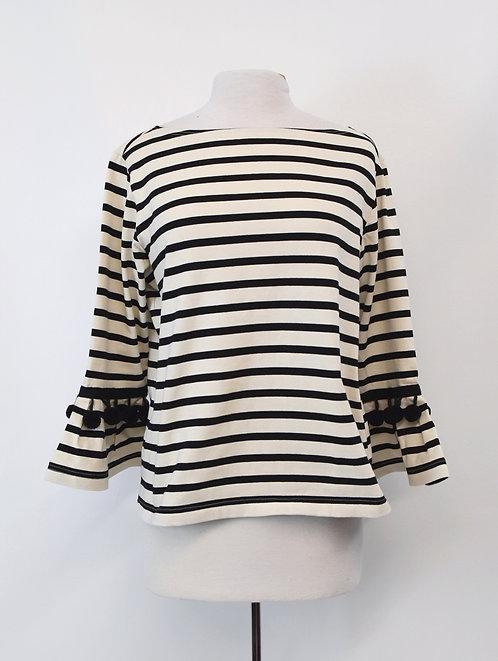 Marc Jacobs Black & White Stripe Sweater Size Large