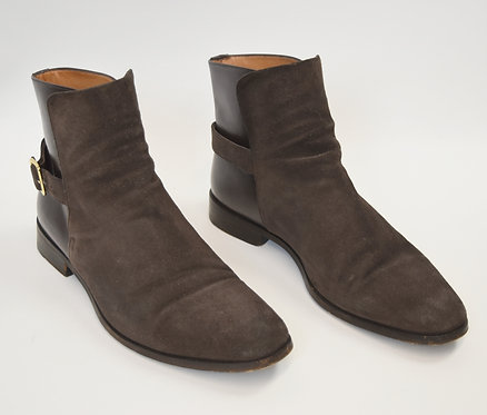 Barbanera Brown Suede & Leather Boots Size 8