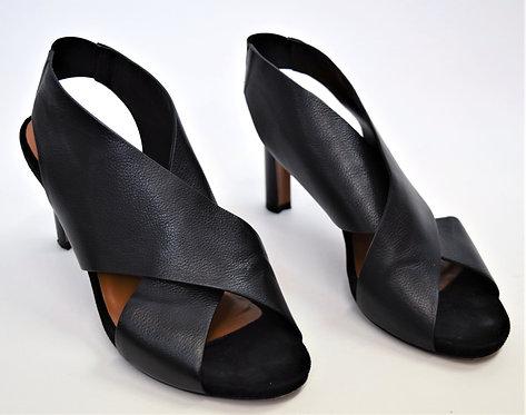 Aquatalia Black Leather Heels Size 8