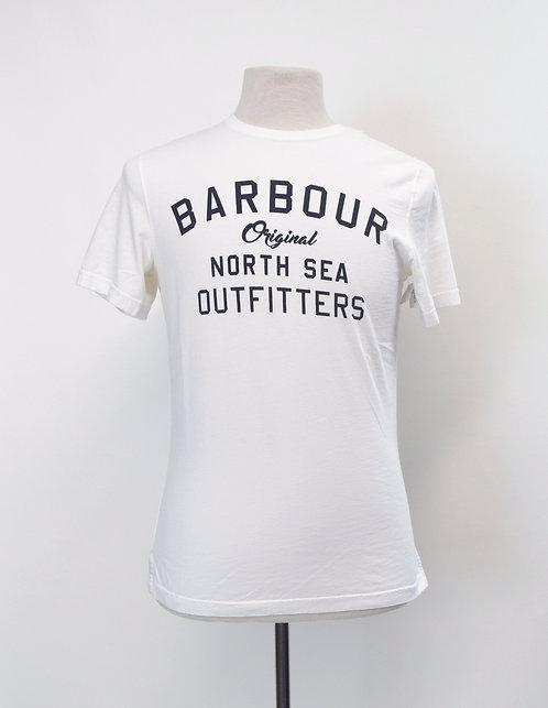 Barbour White T-Shirt Size Small