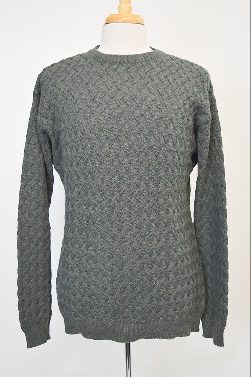 Reiss Green Cable Knit Sweater Size XXL