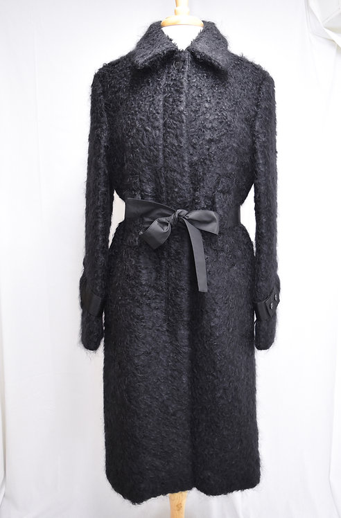 Creatures Of The Wind Black Mohair Coat Size 10